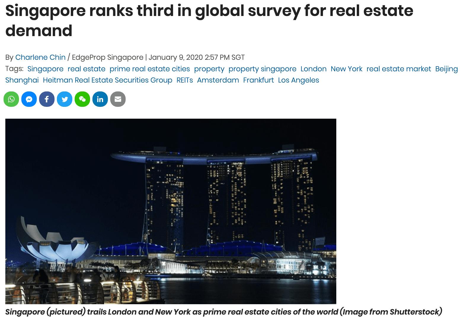 singapore-ranks-third-global-survey-for-real-estate-demand