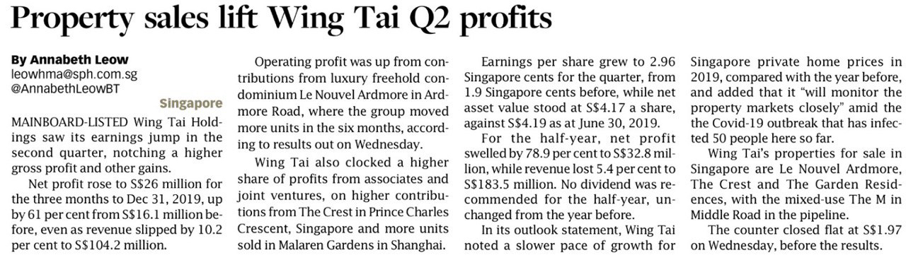 Property-sales-lift-wing-tai-q2-profits
