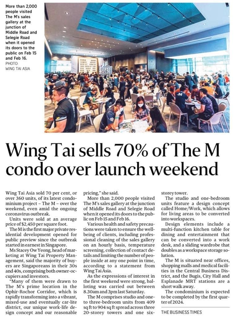 wing-tai-sells-70-of-the-m-condo-over-launch-weekend